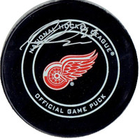 Michael Rasmussen Autographed Detroit Red Wings Game Model Puck