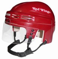 Dylan Larkin Autographed Detroit Red Wings Mini Helmet (Red) (Pre-Order)