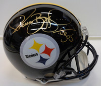 "Jerome Bettis Autographed Pittsburgh Steelers Pro Line Helmet inscribed ""Bus"""