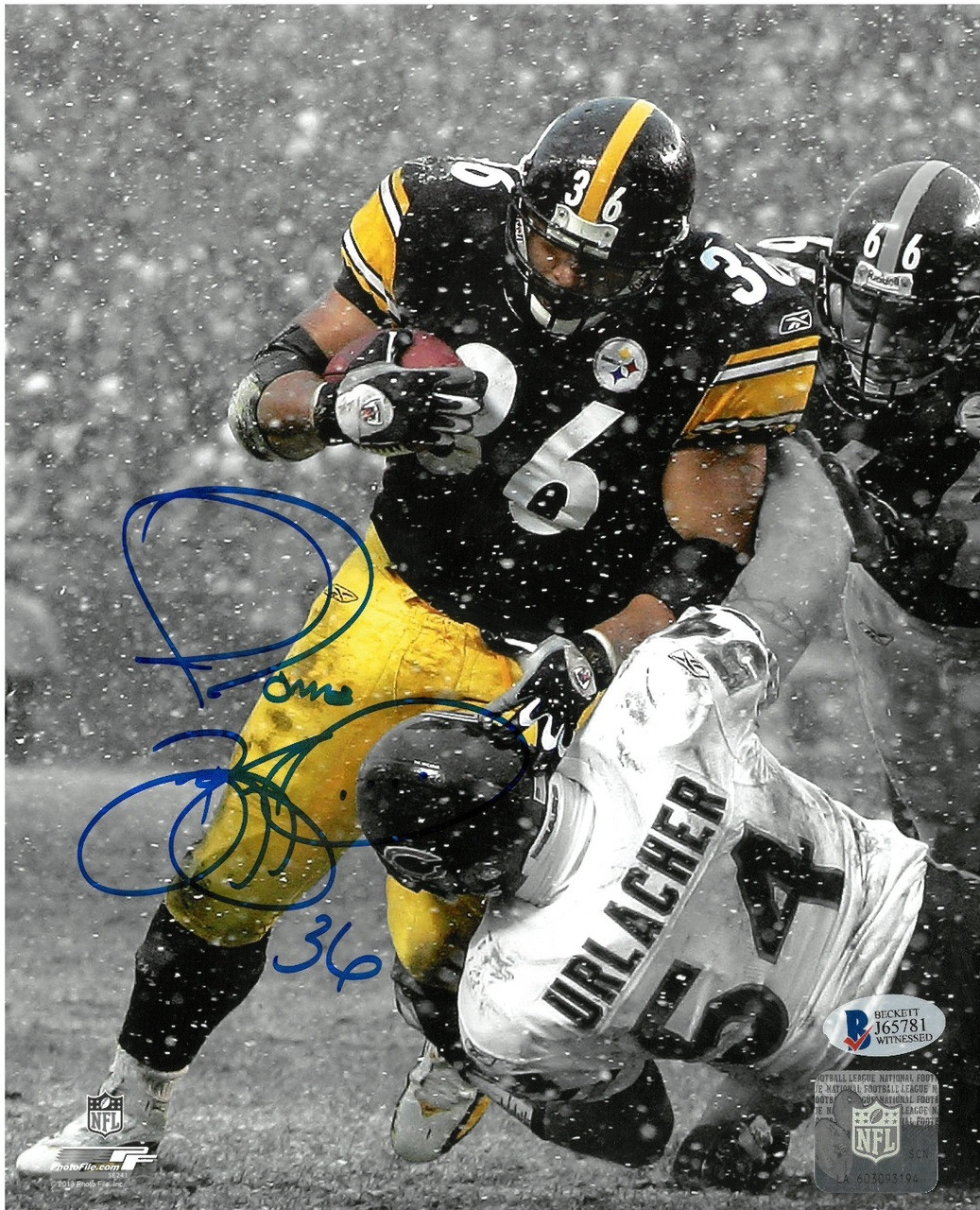 e98bc4272 Jerome Bettis Autographed Pittsburgh Steelers 8x10 Photo  3 ...
