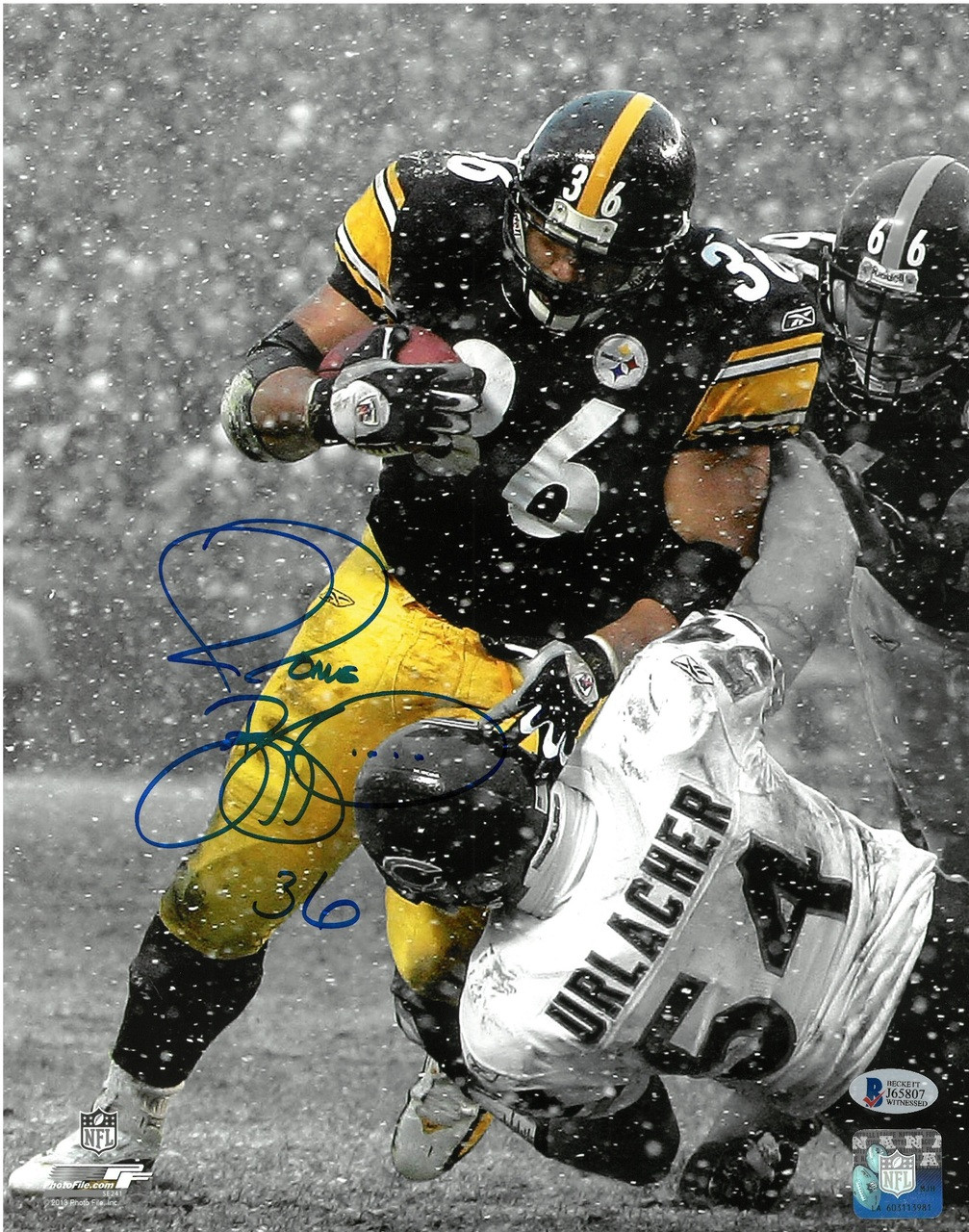 79188ed9f24 ... Jerome Bettis Autographed Pittsburgh Steelers 11x14 Photo  1. Image 1.  Loading zoom