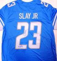 "Darius Slay Autographed Detroit Lions Jersey inscribed with ""Big Play"""