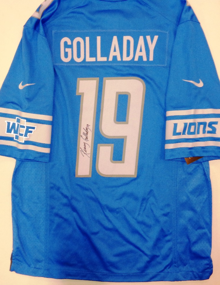 brand new 4a70a dfd08 Kenny Golladay Autographed Detroit Lions Jersey