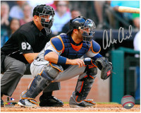 Alex Avila Autographed Detroit Tigers 8x10 Photo #8 - In The Crouch