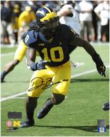 Devin Bush Jr. Autographed 8x10 Photo #1 - Running (Pre-Order)