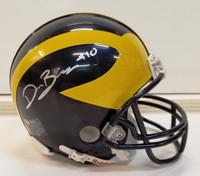 Devin Bush Jr. Autographed Michigan Mini Helmet (Pre-Order)