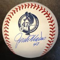 Jack Morris Autographed Baseball - Retirement Ceremony Logo Ball