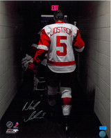 Nicklas Lidstrom Autographed Detroit Red Wings 11x14 Photo #1 - Walking Off the Ice (pre-order)