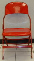 Nicklas Lidstrom Autographed Joe Louis Arena Original Metal Folding Chair (Pre-Order)