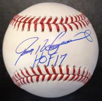 "Ivan Rodriguez Autographed Baseball - Official Major League Ball w/ ""HOF 17"""