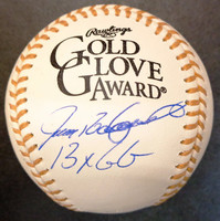 """Ivan Rodriguez Autographed Baseball - Official Gold Glove Ball Inscribed """"13x GG"""""""