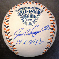 """Ivan Rodriguez Autographed Baseball - Official 2005 All Star Ball Inscribed w/ """"14x All Star"""""""