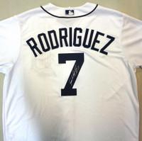 "Ivan Rodriguez Autographed Detroit Tigers Home Jersey Inscribed w/ ""HOF 17"""