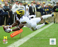 Jabrill Peppers Autographed 8x10 Photo #1 - Diving Touchdown (pre-order)