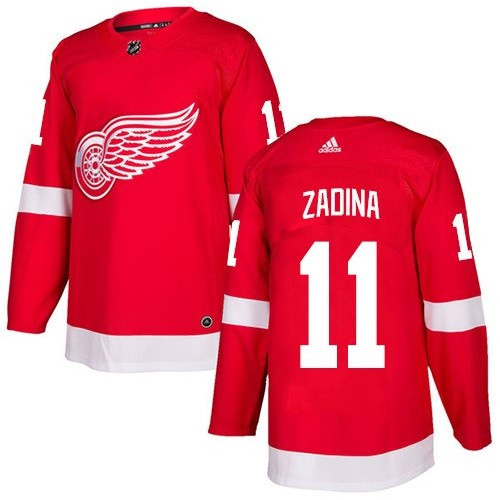 Detroit Red Wings Adidas Authentic Red Jersey - Zadina  11 - Detroit ... 141affb48