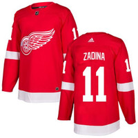 Detroit Red Wings Adidas Authentic Red Jersey - Zadina #11