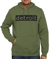 Detroit Men's Khaki Green Hoodie Sweatshirt