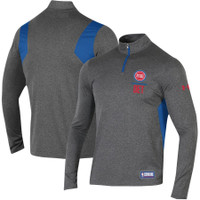 Detroit Pistons Men's Under Armour Heathered Charcoal Combine Authentic Season Tech 1/4 Zip Pullover