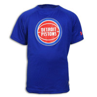 Detroit Pistons Youth Under Armour Combine Logo Core Tech T-Shirt