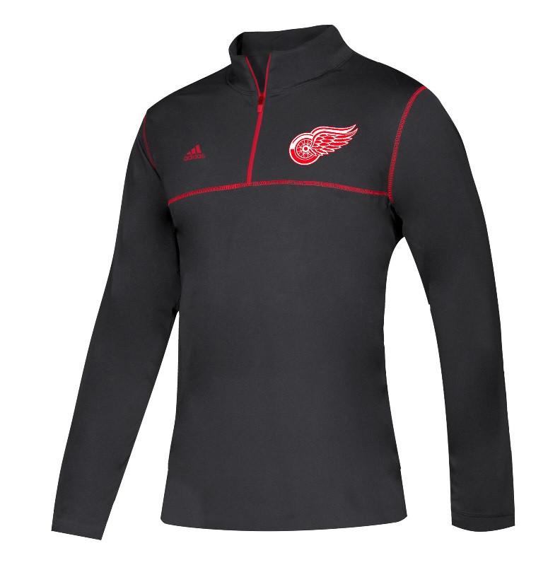 b80ae8a3 ... Detroit Red Wings Men's Adidas 2018 Long Sleeve 1/4 Zip Shirt. Loading  zoom