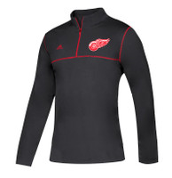 Detroit Red Wings Men's Adidas 2018 Long Sleeve 1/4 Zip Shirt