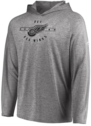 ... Detroit Red Wings Men s Majestic Fan Flow Hooded Long Sleeve Shirt.  Image 1. Loading zoom 8539c34e8
