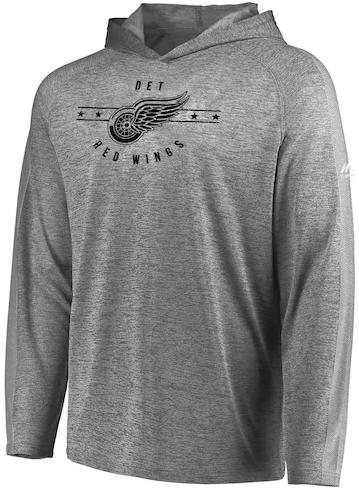 b5b2e2b2 ... Detroit Red Wings Men's Majestic Fan Flow Hooded Long Sleeve Shirt.  Loading zoom