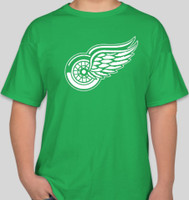 Detroit Red Wings Men's 47 Brand Green St. Patrick's Day White Logo T-Shirt