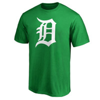 Detroit Tigers Men's 47 Brand Green St. Patrick's Day White Logo T-Shirt