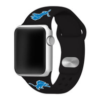 Detroit Lions Game Time Silicone Sport Affinity Band Compatible with Apple Watch