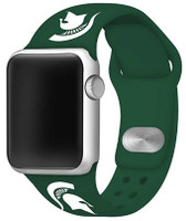 Michigan State University Game Time Silicone Sport Affinity Band Compatible with Apple Watch