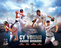 Detroit Tigers Cy Young Award Winners Photo File 8x10 Photo