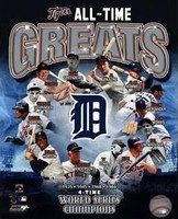 Detroit Tigers All-Time Greats Photo File 8x10 Photo