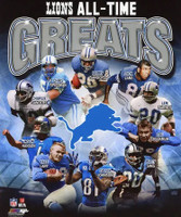 Detroit Lions All-Time Greats Photo File 8x10 Photo