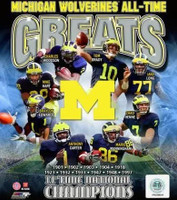 University of Michigan All-Time Greats Photo File 8x10 Photo