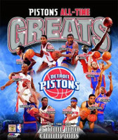 Detroit Pistons All-Time Greats Photo File 8x10 Photo
