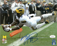 Jabrill Peppers Autographed University of Michigan 8x10 Photo #1