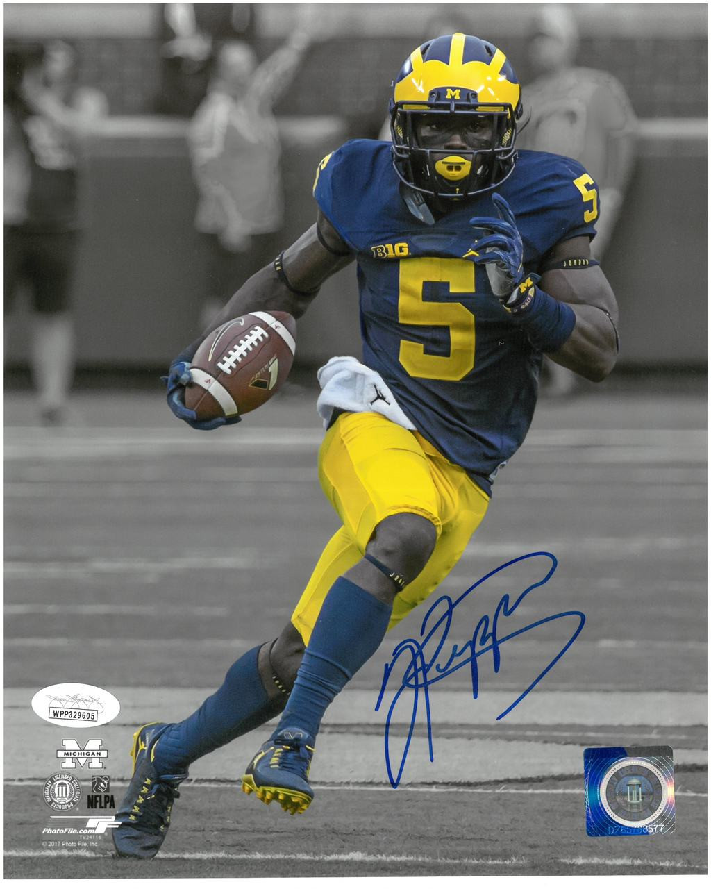 cheap for discount 3bf1b 4c274 Jabrill Peppers Autographed University of Michigan 8x10 Photo #2