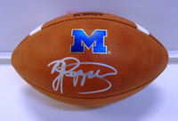 Jabrill Peppers Autographed Michigan Logo Official College Playoff Football