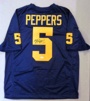Jabrill Peppers Autographed University of Michigan Authentic Nike Jumpman Jersey