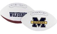 Devin Bush Autographed Michigan Wolverines White Panel Football (Pre-Order)