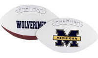 David Long, Jr. Autographed Michigan Wolverines White Panel Football (Pre-Order)