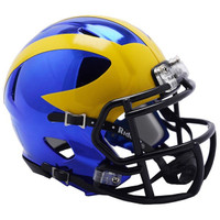 David Long, Jr. Autographed Michigan Wolverines Chrome Mini Helmet (Pre-Order)