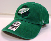 Detroit Red Wings Men's 47 Brand St. Patrick's Day Galway Clean Up Adjustable Hat