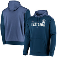 Detroit Tigers Men's Majestic Navy Authentic Collection Team Distinction Pullover Hoodie