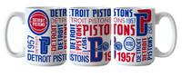 Detroit Pistons Boelter Sublimated Spirit Ceramic Coffee Mug