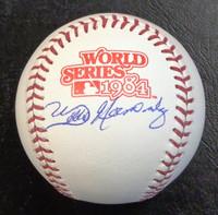 Willie Hernandez Autographed Baseball - 1984 World Series Ball