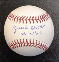 """Fred Lasher Autographed Baseball - Official Major League w/ """"68 WSC"""""""