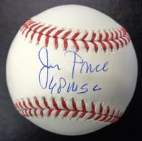 "Jim Price Autographed Official Major League Baseball w/ ""68 WSC"""