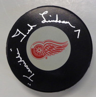 "Ted Lindsay Autographed Detroit Red Wings Puck w/ ""Terrible"""